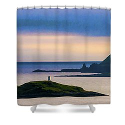 Ardtreck Point Lighthouse Shower Curtain