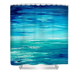 Shower Curtain featuring the painting Are We There Yet? by Tatiana Iliina