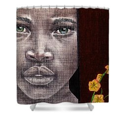 Are You Serious? Shower Curtain by Edith Peterson-Watson