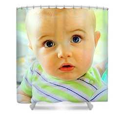 Are You Talking To Me Shower Curtain by Faith Williams