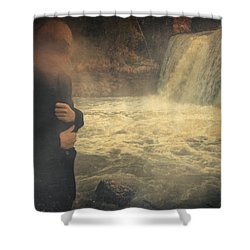 Are You There ? Shower Curtain by Taylan Apukovska