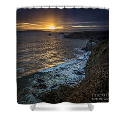 Ares Estuary Mouth Galicia Spain Shower Curtain