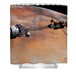 Ares1 Release Shower Curtain by David Robinson