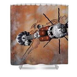 Ares1 Within Range For Rendezvous Shower Curtain by David Robinson