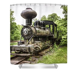 Shower Curtain featuring the photograph Argent Lumber Company Engine No. 4 - Antique Steam Locomotive by Gary Heller