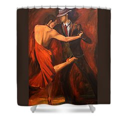 Shower Curtain featuring the painting Argentine Tango by Sheri  Chakamian