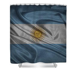 Argentinian Flag Waving On Canvas Shower Curtain