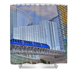 Aria Las Vegas Nevada Hotel And Casino Tram  Shower Curtain