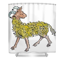 Aries An Illustration From The Poeticon Shower Curtain by Italian School