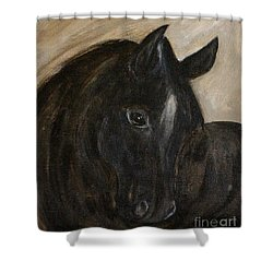 Shower Curtain featuring the painting Arion by Barbie Batson