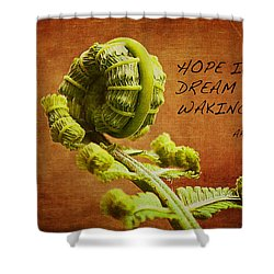 Aristotle Quote Shower Curtain