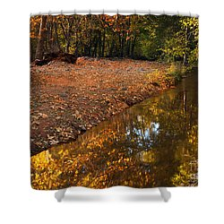 Arizona Autumn Reflections Shower Curtain by Mike  Dawson