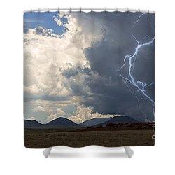 Arizona Desert Lightning  Shower Curtain