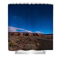 Arizona Mesa At Night Shower Curtain