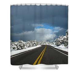 Arizona Snow 1 Shower Curtain