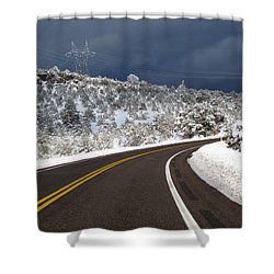 Arizona Snow 2 Shower Curtain