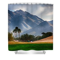 Arizona Sunrise Golfing Shower Curtain