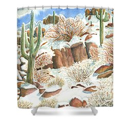 Arizona The Christmas Card Shower Curtain