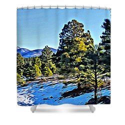 Arizona Winter Shower Curtain
