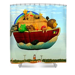 Arky Hot Air Balloon Shower Curtain by Kathy  White
