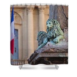 Arles Place De La Republique Shower Curtain by Brian Jannsen