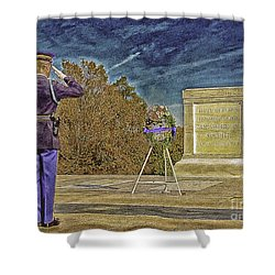 Arlington Cemetery Tomb Of The Unknowns Shower Curtain by Bob and Nadine Johnston