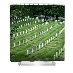 Shower Curtain featuring the photograph Arlington National Cemetery by Tim Stanley