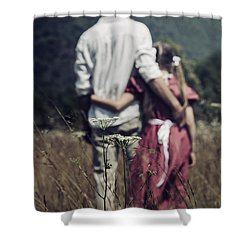 Arm In Arm Shower Curtain by Joana Kruse