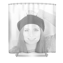 Arm Up Shower Curtain