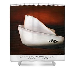 Shower Curtain featuring the painting Armstrong Atlantic State University Department Of Nursing by Marlyn Boyd