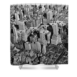 Army Air Corp Over Manhattan Shower Curtain by Underwood Archives