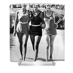 Army Bathing Suit Trio Shower Curtain by Underwood Archives