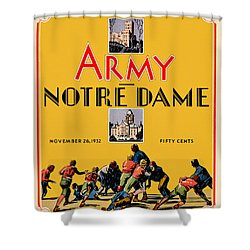 Army Vs Notre Dame 1932 Football Program Shower Curtain