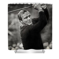 Arnold Palmer Pro-am Golf Photo Pebble Beach Monterey Calif. Circa 1960 Shower Curtain
