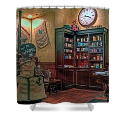 Shower Curtain featuring the photograph Aromas Coffee Shop Newport News Virginia by Jerry Gammon