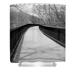Shower Curtain featuring the photograph Around The Bend by Kristen Fox