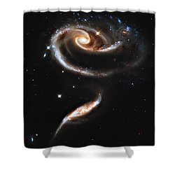 Arp 273 Rose Galaxies Shower Curtain