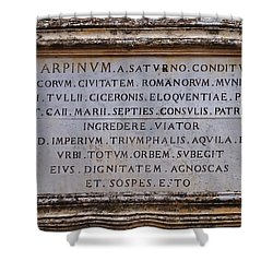 Arpinium Shower Curtain by Dany Lison