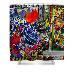 Art Alley Three Shower Curtain