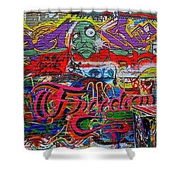 Art Alley Two Shower Curtain