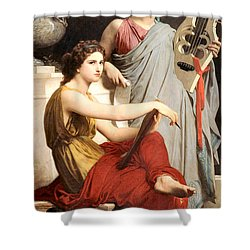 Art And Literature Shower Curtain by William Bouguereau