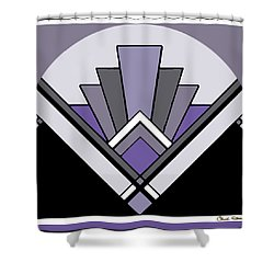 Art Deco Pattern Two - Purple Shower Curtain by Chuck Staley