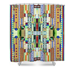 Art Deco Stained Glass 2 Shower Curtain by Ellen Henneke