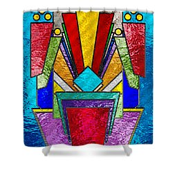 Art Deco - Stained Glass 6 Shower Curtain by Chuck Staley