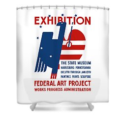 Art Exhibition The State Museum Harrisburg Pennsylvania Shower Curtain by War Is Hell Store
