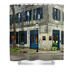 Shower Curtain featuring the photograph Art Gallery In The Rain by Rodney Lee Williams