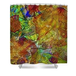 Art Glass Overlay Shower Curtain