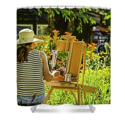 Art In The Garden Shower Curtain by Mary Carol Story