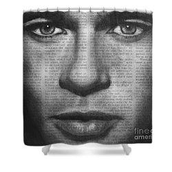 Art In The News 32- Brad Pitt Shower Curtain