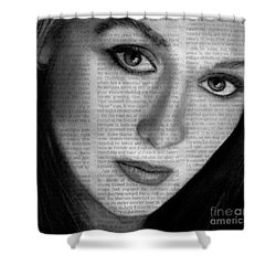 Art In The News 34- Meryl Streep Shower Curtain